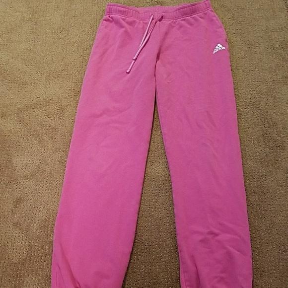 factory price b9f0d f7a81 adidas Pants - Pink adidas sweatpants